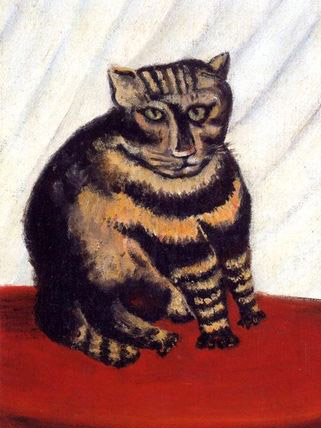 "The ""content"" of Jean-Jacques Rosseau's painting is recognizable as a cat, despite the painting ""style""."